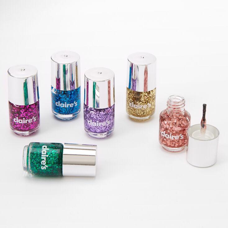 Glitter Mini Nail Polish Set - 5 Pack,