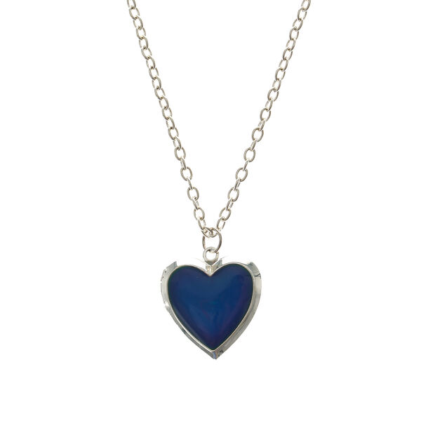 Claire's - heart-shaped mood locket necklace - 1