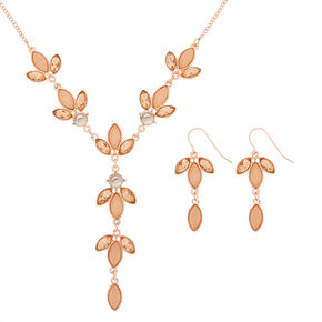 Rose Gold Petal Jewellery Set - Pink, 2 Pack,