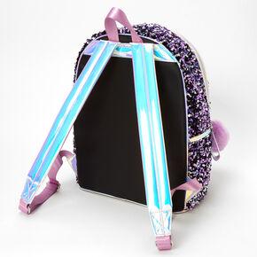 Lilac Sequin Backpack - Black,