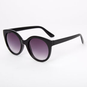 Rounded Mod Sunglasses - Black,