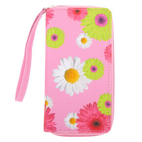 Daisy Floral Wristlet - Pink,