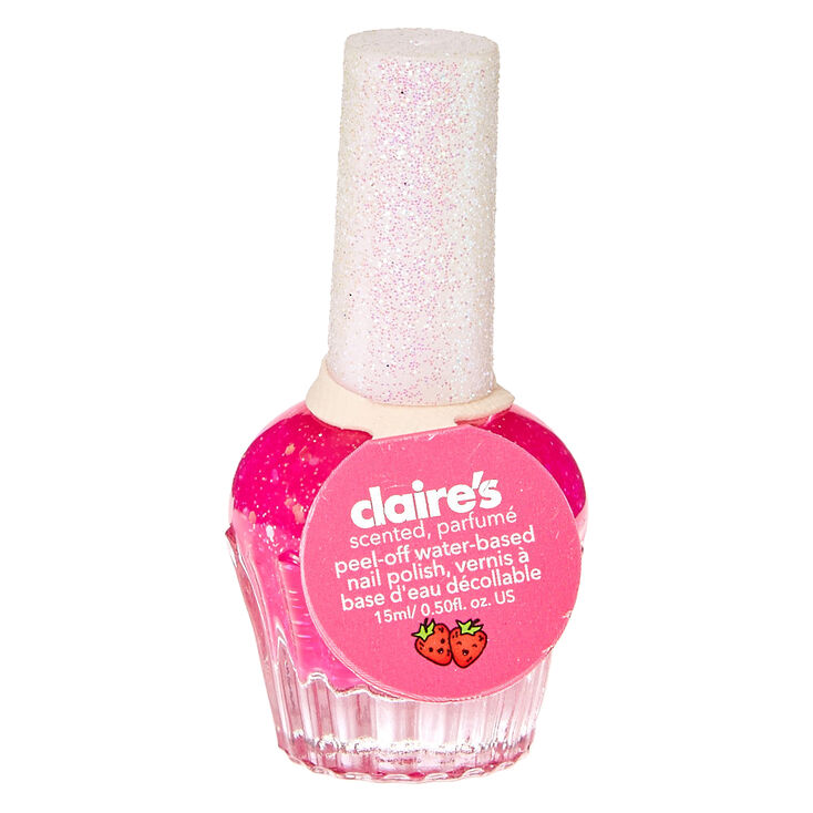 Strawberry Scented Hot Pink Nail Polish | Claire\'s US