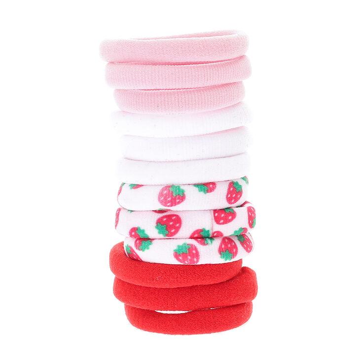 Kids 12 Pack Strawberry Hair Elastics | Claire\'s