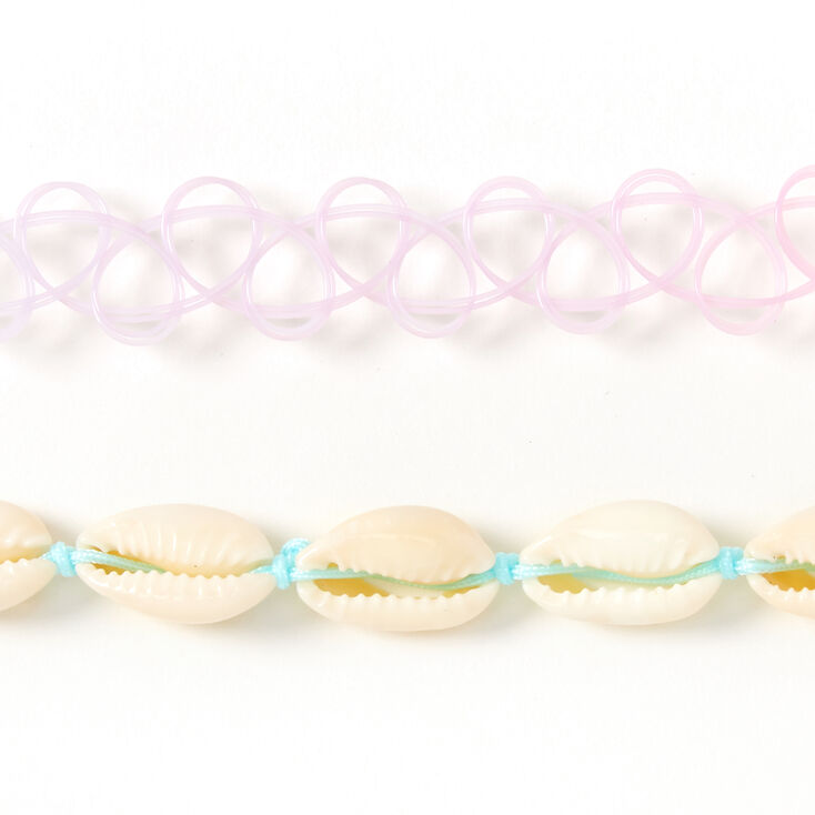 Sky Brown™ Ombre Cowrie Shell Choker Necklaces - 2 Pack,