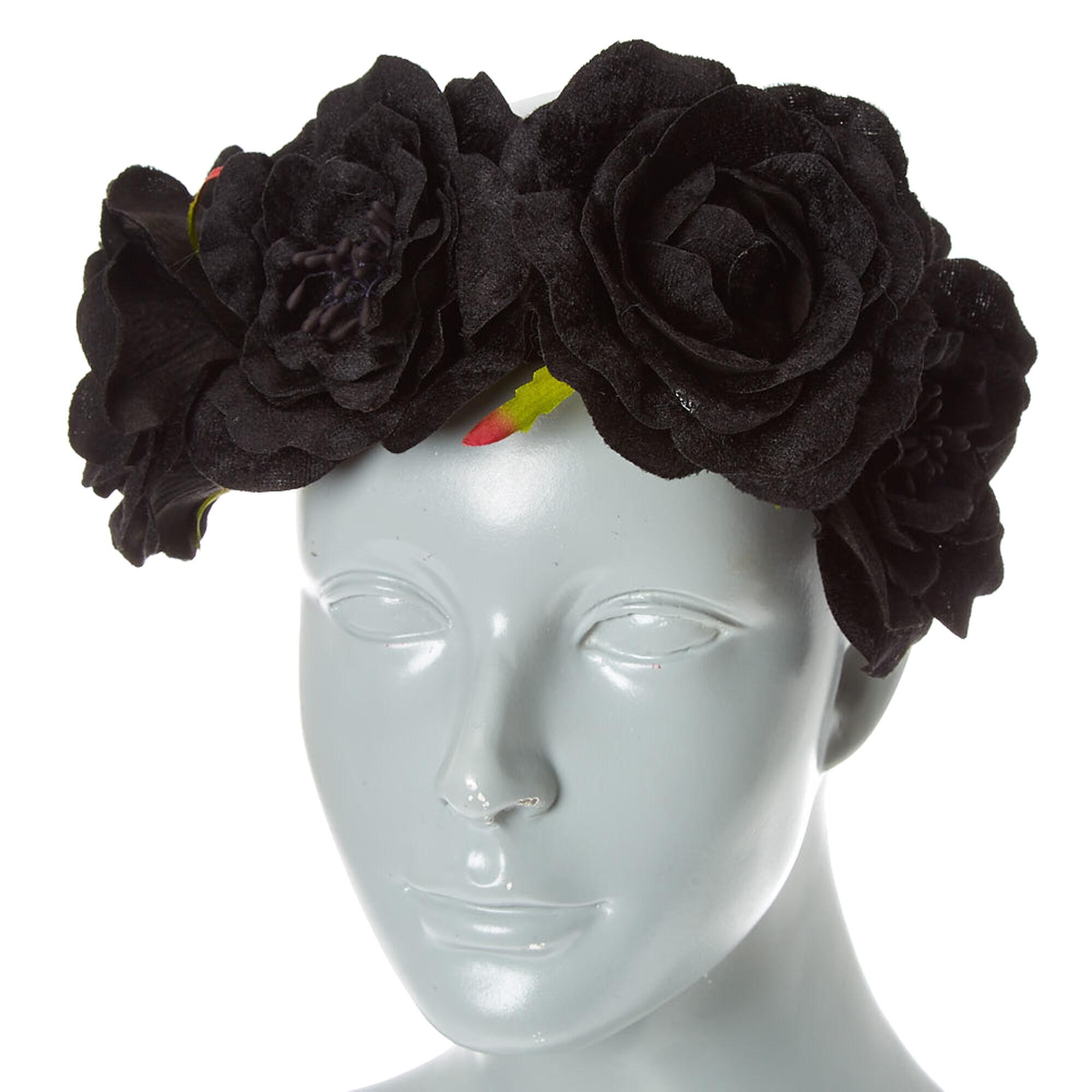 Black Velvet Flower Crown Claires Us