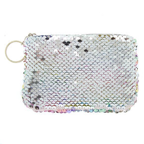Reversible Sequin Rainbow Pastel Coin Purse,