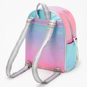 Iridescent Pastel Unicorn Mini Backpack - Rainbow,