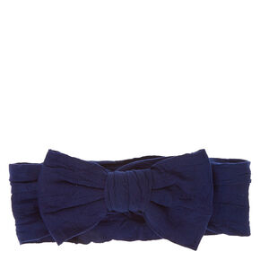 Claire's Club Bow Headwrap - Navy,
