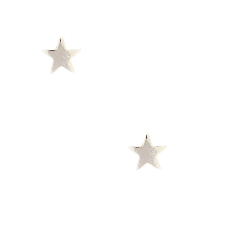 Sterling Silver Star Stud Earrings,