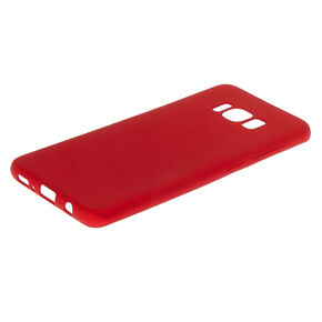 Red Matte Logo Cut Out Phone Case - Fits Samsung Galaxy S8,