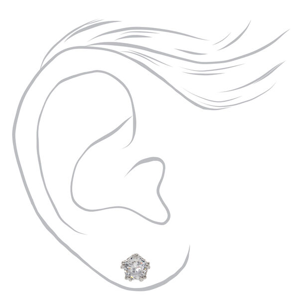 Claire's - cubic zirconia 5mm round stud earrings - 2