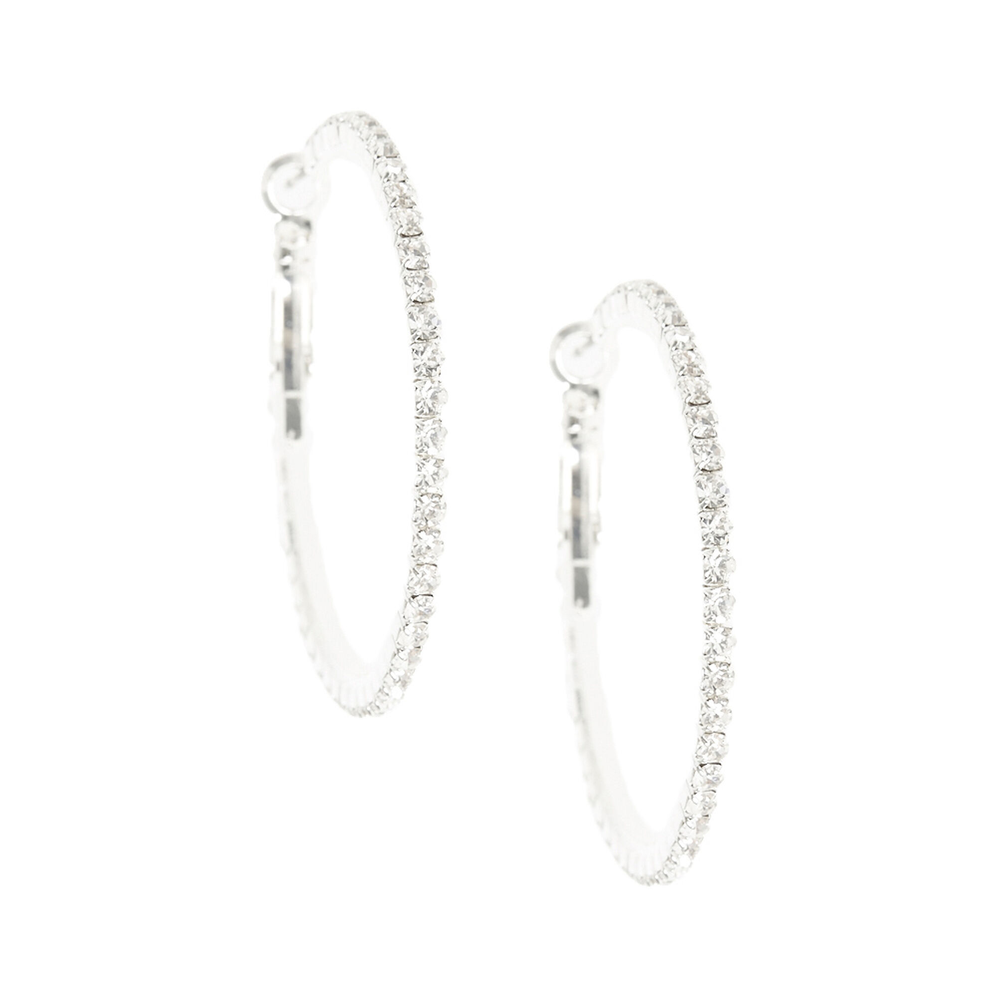sterling earring classic silver si jewellery jewelry huggie mini bling earrings hoop