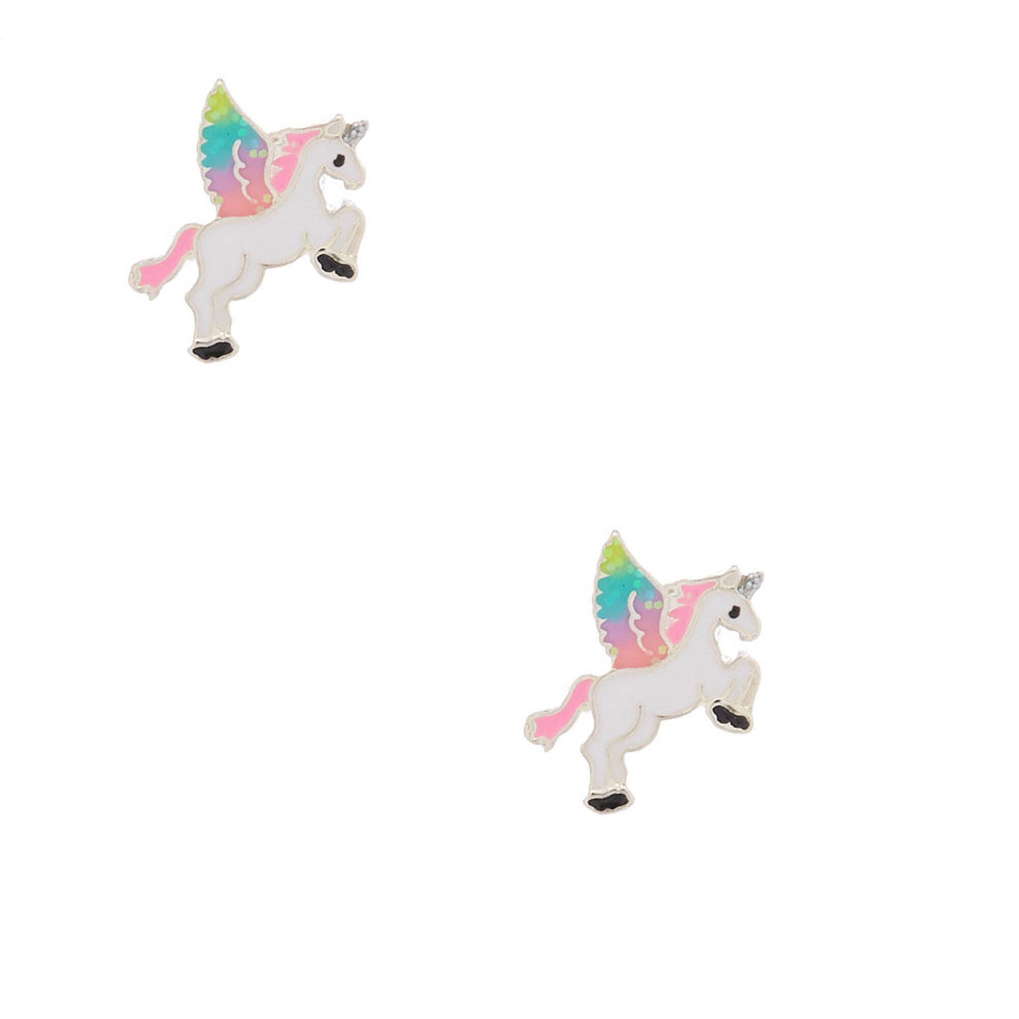 67fd41c21 Flying Unicorn Stud Earrings | Claire's