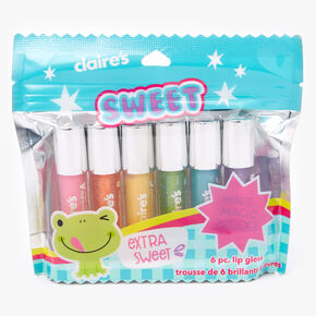 Extra Sweet Glitter Lip Gloss Set - 6 Pack,