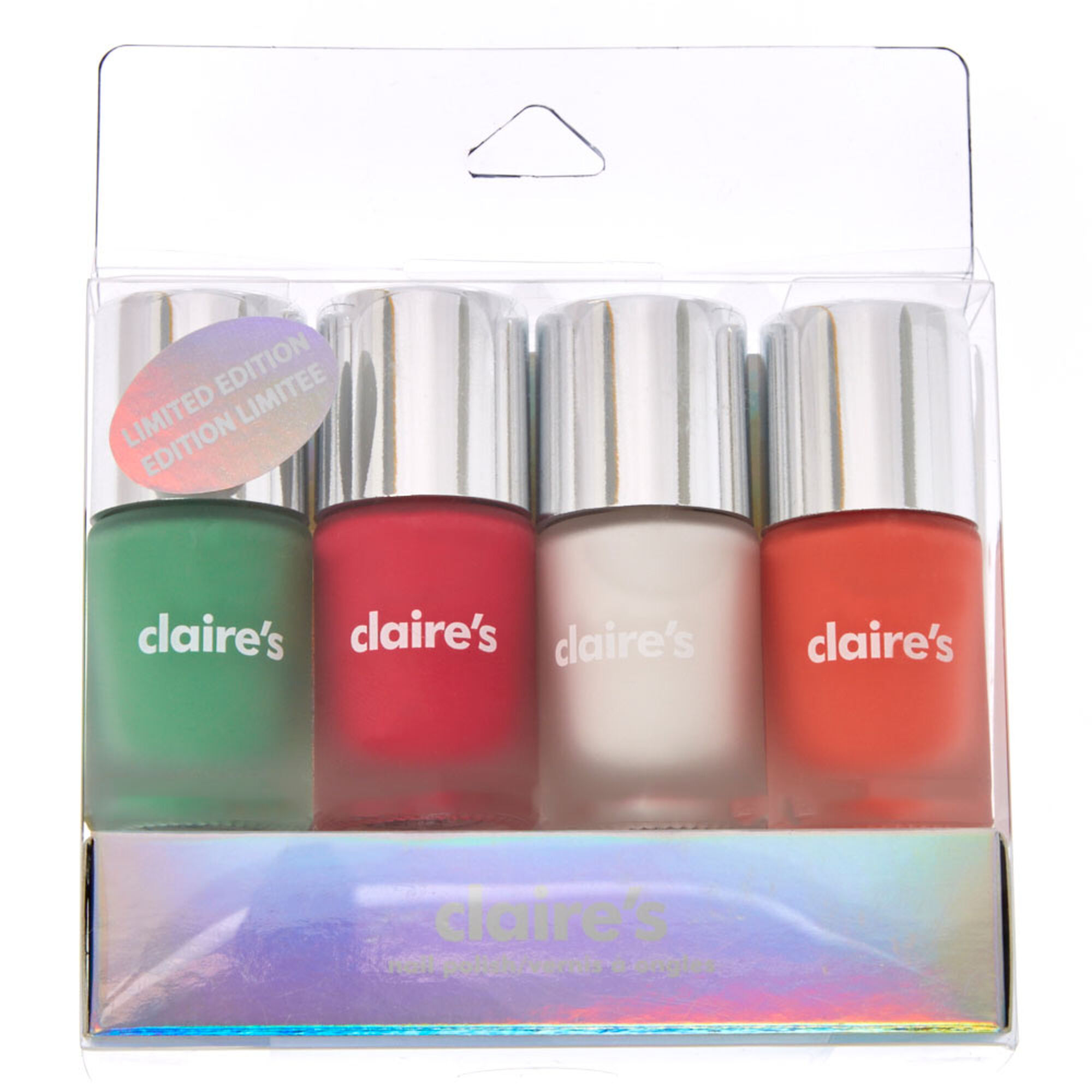 4 Pack Matte Nail polish Set | Claire\'s