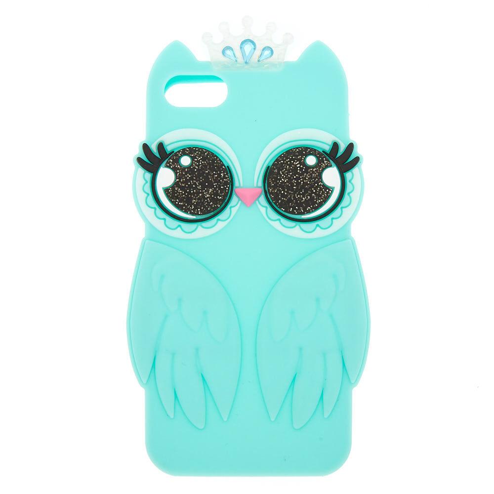 Coque de portable en silicone Luna le hibou - Compatible avec iPhone 5/5S