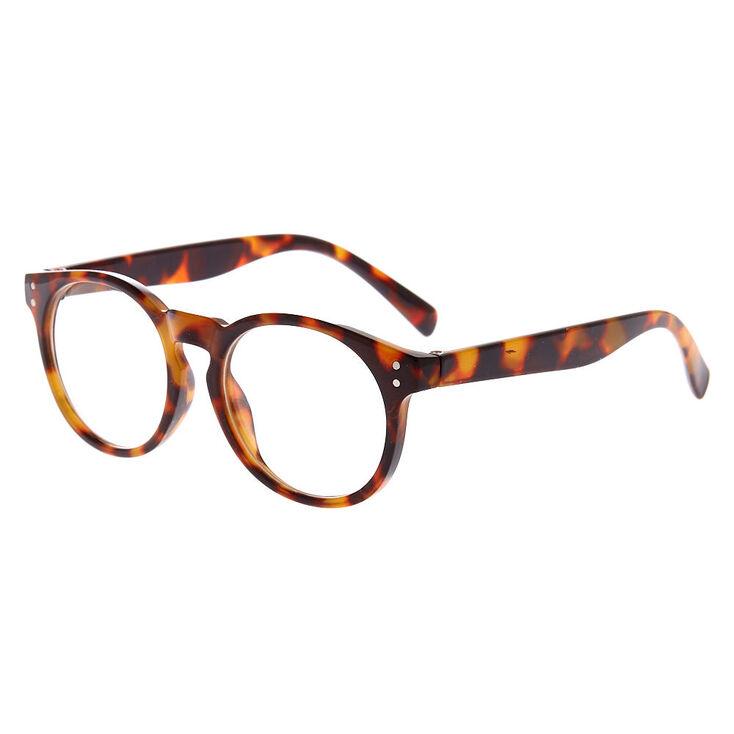 90769f14f9 Monture de lunettes ronde à motif écaille de tortue du Club Claire's ...