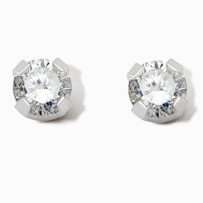 Round Diamond Stud Earrings 1/5 ct. tw. 14kt White Gold,