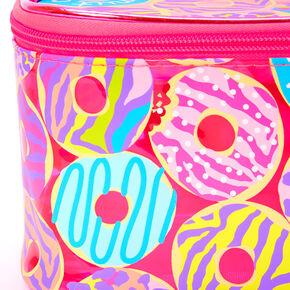 Trousse de maquillage imprimé donuts et animaux fluo - Rose,