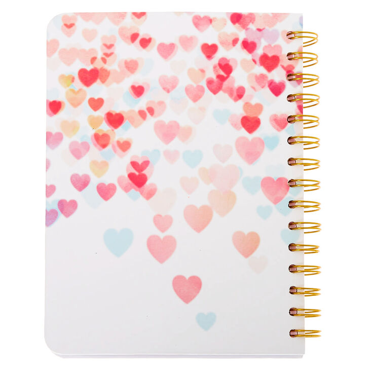 Eiffel Tower Hearts Notebook - White,