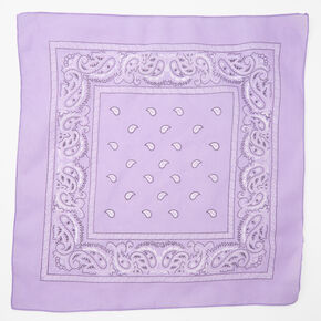 Paisley Bandana Headwrap - Lilac,