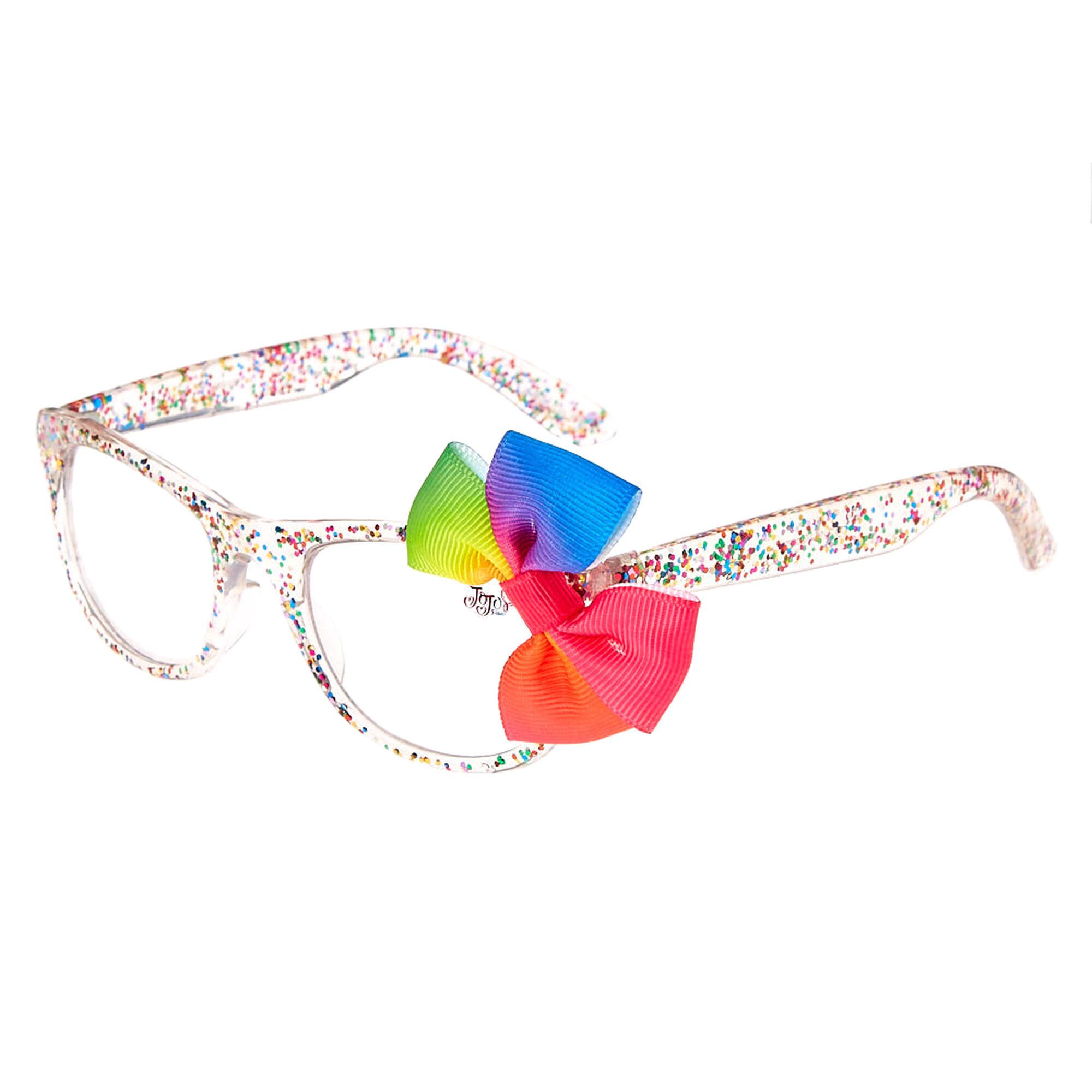 JoJo Siwa™ Rainbow Glitter Bow Frames | Claire\'s US