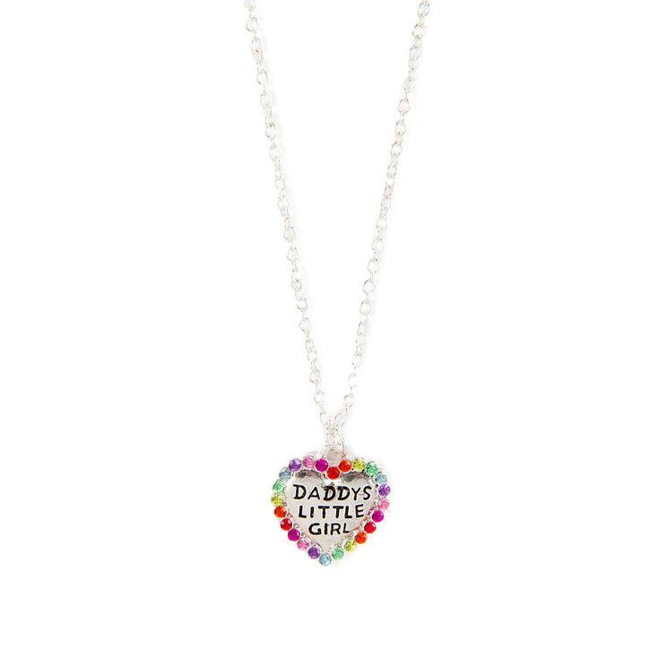 Kids daddys little girl crystal heart pendant necklace claires us kids daddy39s little girl crystal heart pendant necklace aloadofball Images