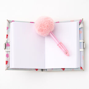 Shakey Hearts Lock Notebook & Pom Pom Pen,