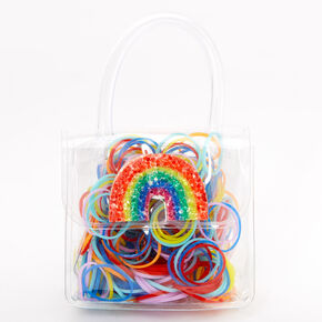 Claire's Club Mini Rainbow Purse Hair Bobbles,