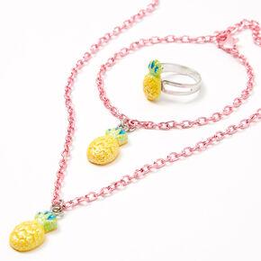 Claire's Club Pineapple Jewelry Set - 3 Pack,