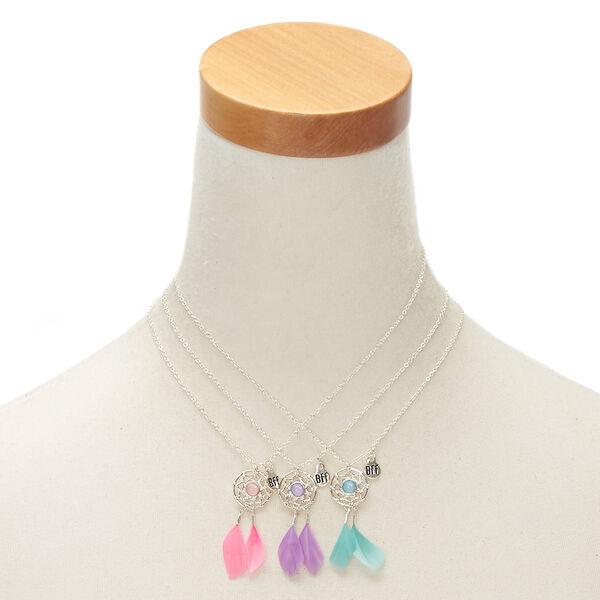 Claire's - best friends dreamcatcher feather pendant necklaces - 2