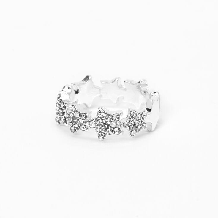 Silver Emellished Star Midi Ring,