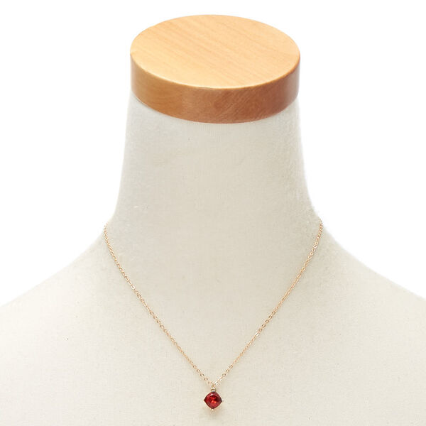 Claire's - january birthstone pendant - 2