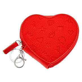 Icon Heart Coin Purse - Red,