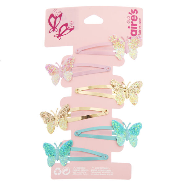 Claire's - club butterfly snap hair clips - 1