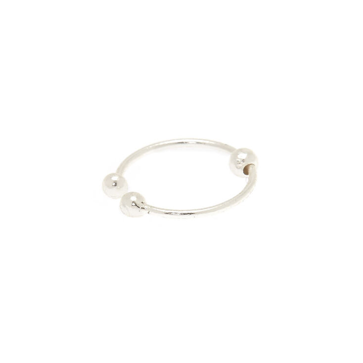 Sterling Silver Ball Faux Hoop Nose Ring,