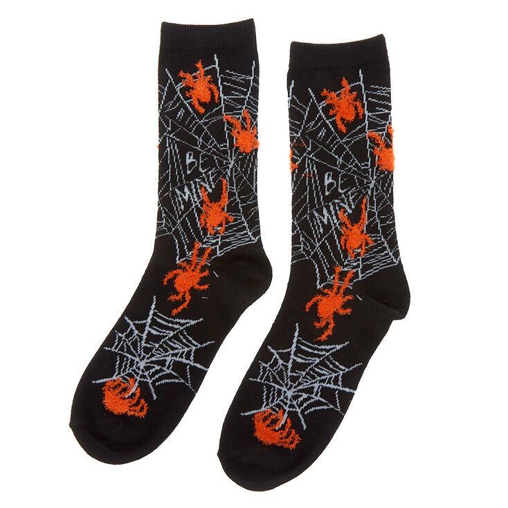 Spider Crew Socks - Black,