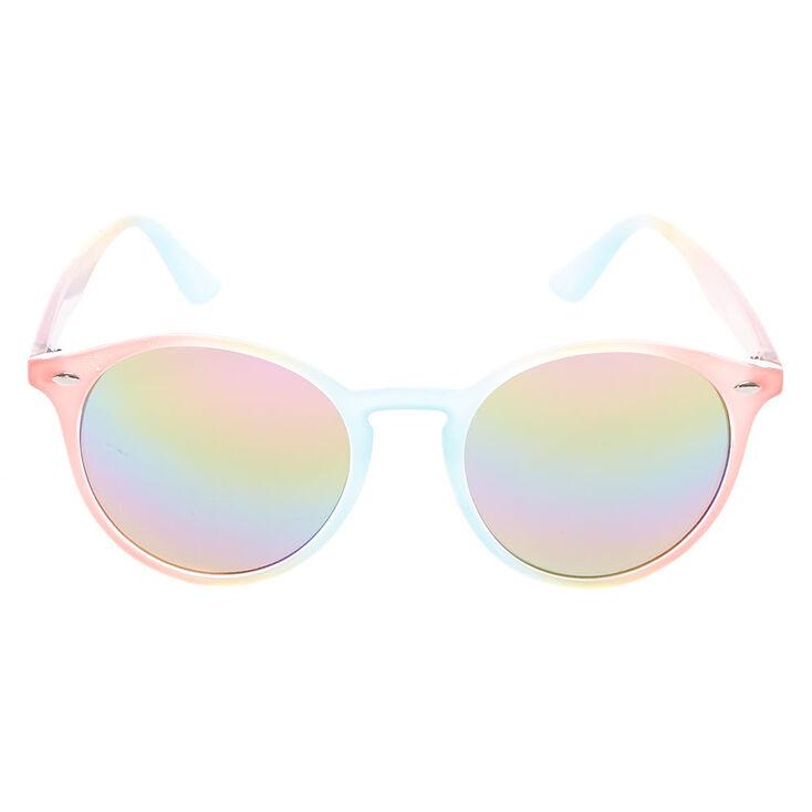 Pastel Rainbow Round Sunglasses,