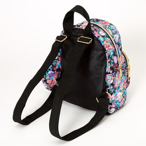 Nylon Watercolor Floral Mini Backpack,