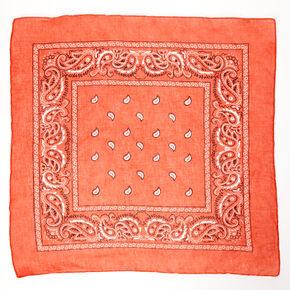 Paisley Bandana Headwrap - Rust,