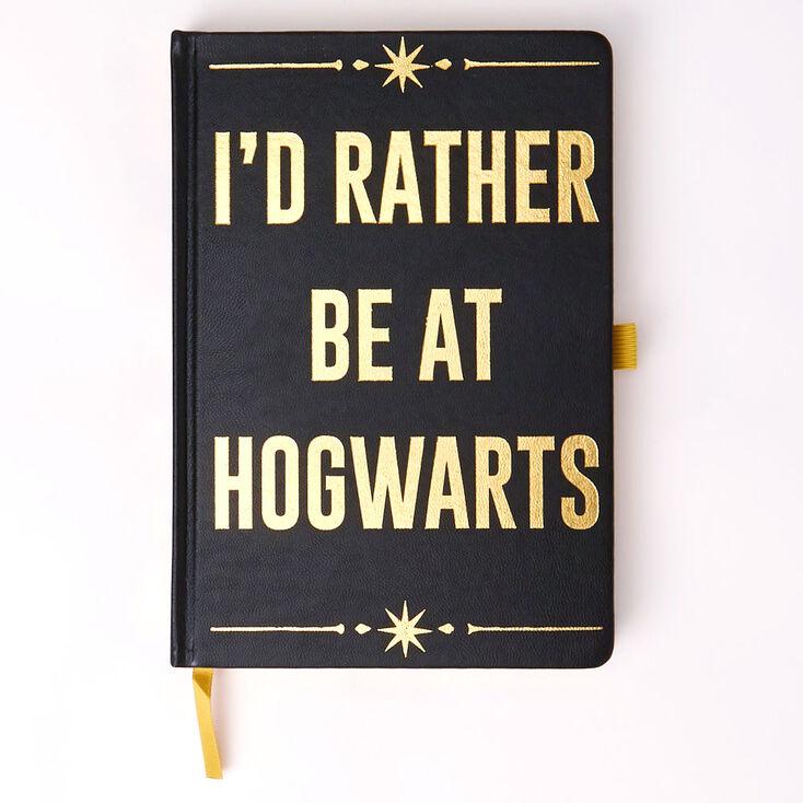 Carnet «I'd Rather Be At Hogwarts» Harry Potter™ – Noir,