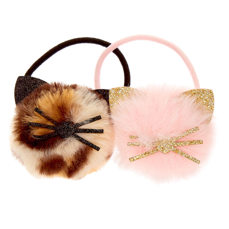 Claire's Club Pom Cat Hair Ties - 2 Pack,
