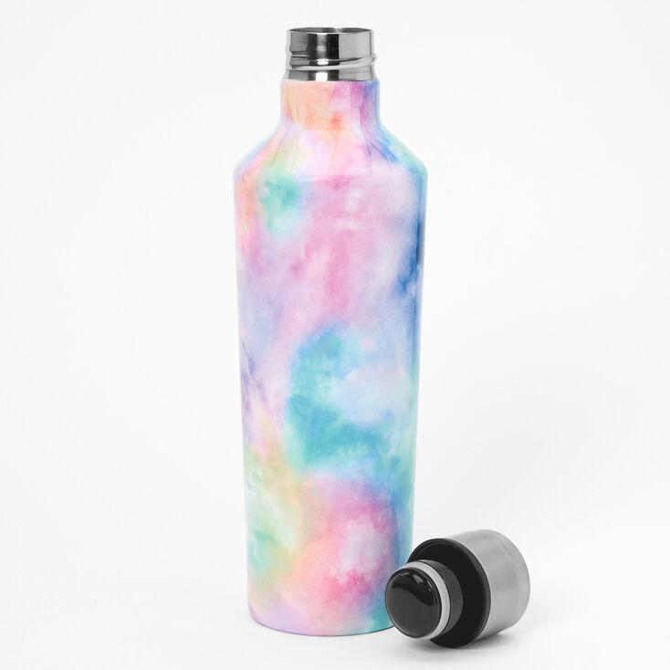 Pastel Tie Dye Metal Water Bottle,