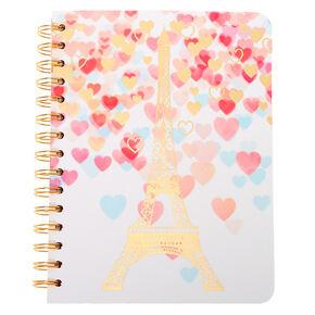 Carnet cœurs tour Eiffel – Blanc,