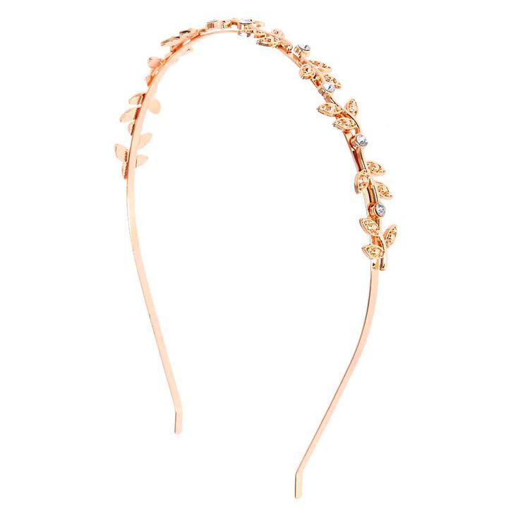 Rose Gold Stone Vine Headband  5b606b6b8ff