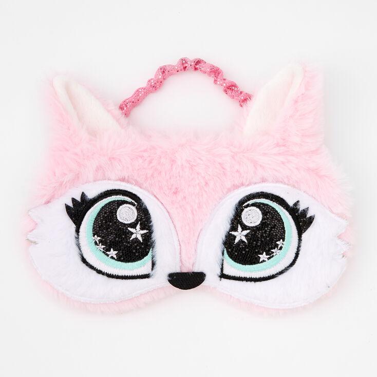 Pastel Fox Sleeping Mask - Pink,