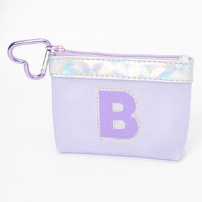 Porte-monnaie à initiale violette - B,