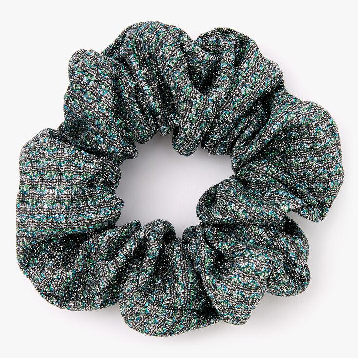 Medium Lurex Hair Scrunchie - Black,