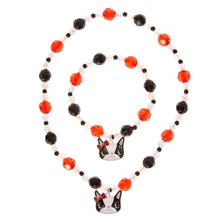 Ensemble de bijoux perles bouledogue fran ais pour - Perle pour enfant ...